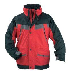 Coverguard Iceberg munkavédelmi kabát piros/fekete színben, 3 az 1-ben