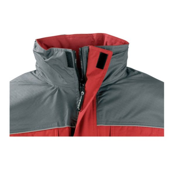 Coverguard Ripstop szakadásbiztos munkavédelmi kabát piros/szürke színben