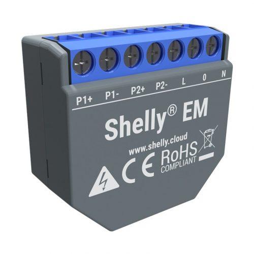 Shelly EM egy fázisú, nagyteljesítményű fogyasztásmérő és vezérlő