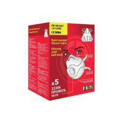 Supair 23306 FFP3 SL NR D szelepes csésze formájú pormaszk 5db
