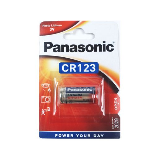 Panasonic CR123A elem (Shelly H&T és Shelly Flood szenzorhoz)