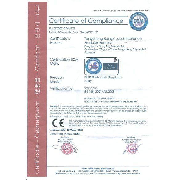 Szájmaszk FFP2 KN95 2db/csomag