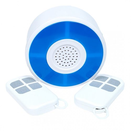 SmartWise sziréna, 2 db távirányítóval, RF (vezeték nélküli)