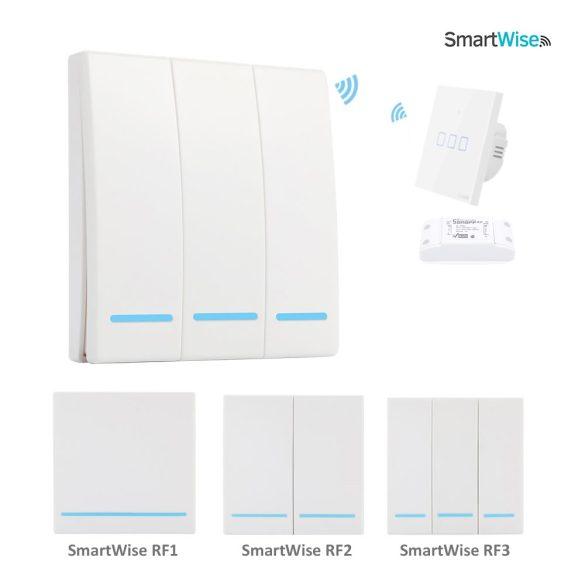 SmartWise RF1 RF (rádiós), alternatív / keresztváltó kapcsoló / fali RF távirányító
