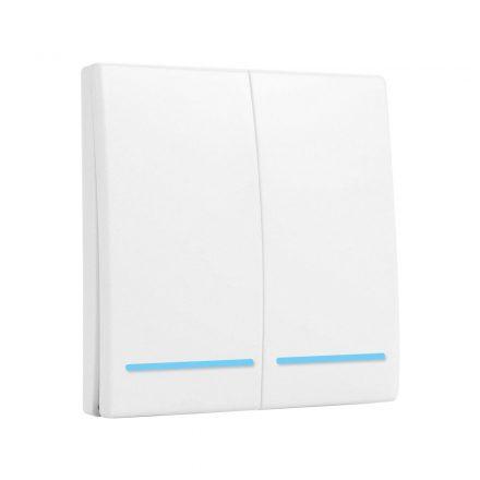 SmartWise RF2 kettős RF (rádiós), alternatív / keresztváltó kapcsoló / fali RF távirányító