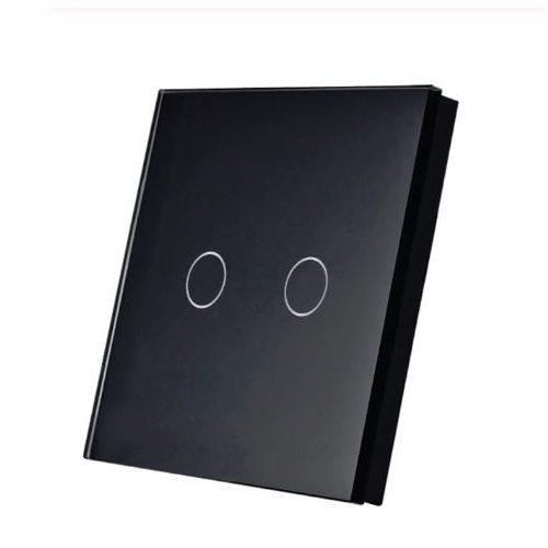 SmartWise T1R2B kettős/csillár RF (rádiós), alternatív / keresztváltó kapcsoló / fali RF távirányító (fekete)