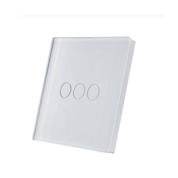 SmartWise T1R3W (R2) hármas/csillár RF (rádiós), alternatív / keresztváltó kapcsoló / fali RF távirányító (fehér)