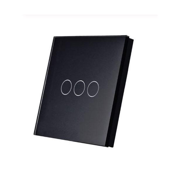 SmartWise T1R3B hármas/csillár RF (rádiós), alternatív / keresztváltó kapcsoló / fali RF távirányító (fekete)