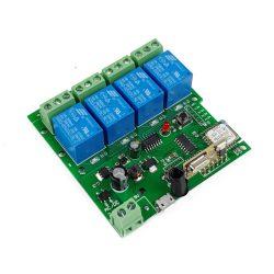 SmartWise 5V-32V négyáramkörös WiFi + RF-es, Sonoff kompatibilis, távvezérelhető relé