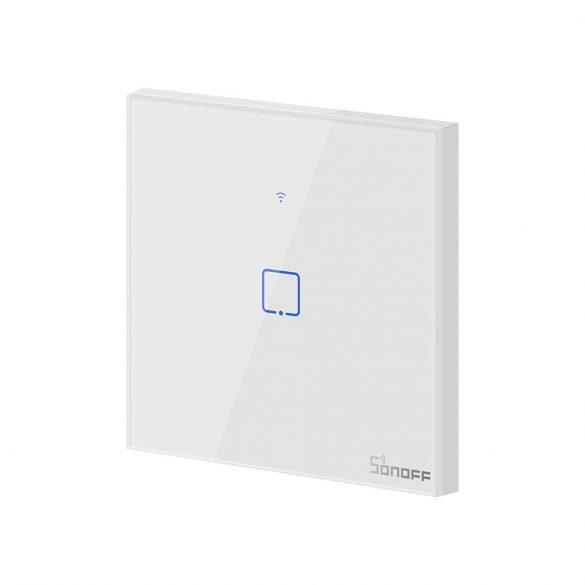 Sonoff TX T1 EU 1C WiFi + RF vezérlésű, távvezérelhető, érintős villanykapcsoló (fehér)