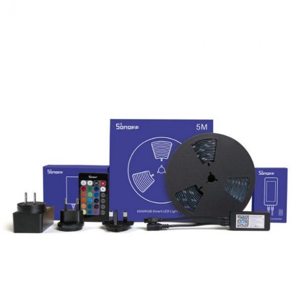 Sonoff L1 RGB LED szalag (5m), WiFi-s, internetről távvezérelhető vezérléssel