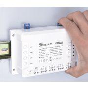 Sonoff 4CH PRO (R3) internetről távvezérelhető, WiFi-s és RF-es időzíthető kapcsoló relé négy áramkörhöz