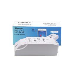 Sonoff Dual (R2) internetről távvezérelhető, időzíthető kapcsoló relé két áramkörhöz
