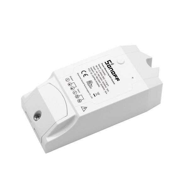 Sonoff POW (R2) WiFi-s, internetről távvezérelhető kapcsoló relé, áramfogyasztás-mérővel, túlfeszültség védelemmel