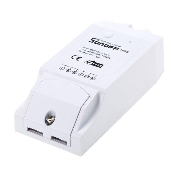 Sonoff TH16 WiFi-s, internetről távvezérelhető kapcsoló relé