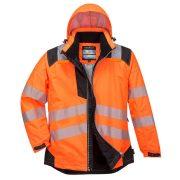 Portwest T400 PW3 Hi-Vis télikabát narancs/fekete színben