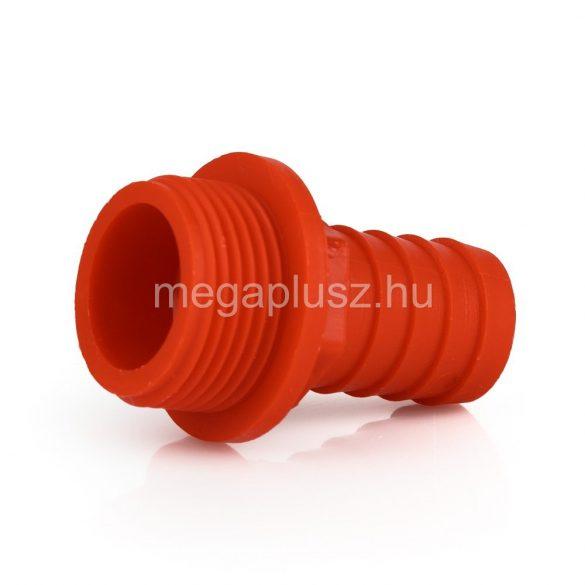 Tömlővég műanyag 1/2-3/4col kül.men.