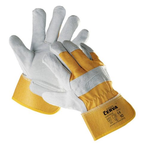 Cerva Eider munkavédelmi kesztyű sárga színben, méret 10-es