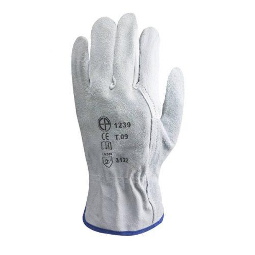EP munkavédelmi bőrkesztyű, szürke színbőr bivaly/hasíték kézhát 11-es