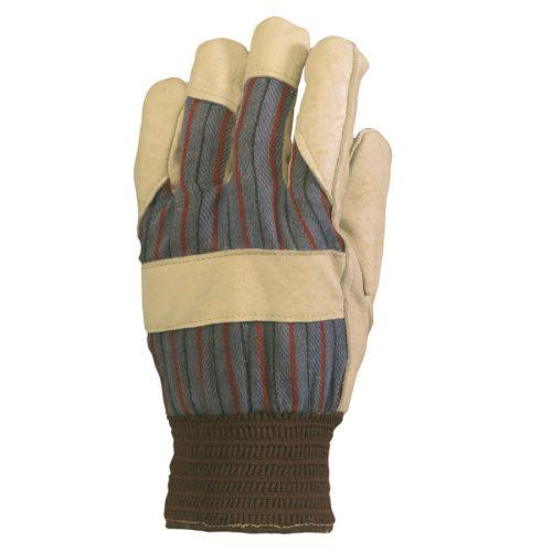 EP 300 munkavédelmi bőrkesztyű,téli,bézs színmarha/csíkos vászonkézhát 10 (csgt)-es méret