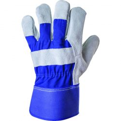 EP 3143 munkavédelmi bőrkesztyű, szürke erős marhahasíték / kék vászon 11-es