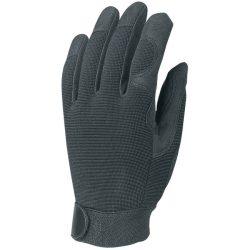 EP munkavédelmi bőrkesztyű, fekete szintetikus/fekete pes, tépőzár