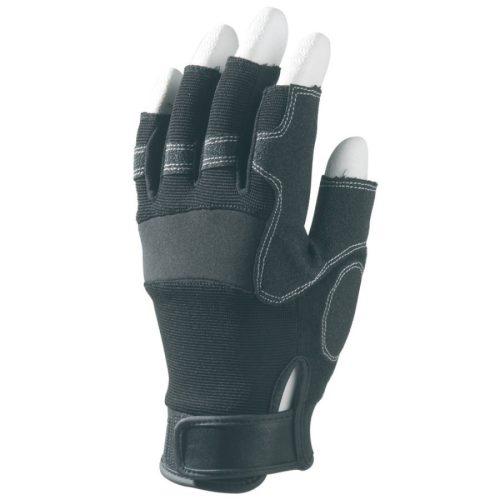 EP 990 munkavédelmi bőrkesztyű, fekete szintetikus sofőr, ujjvég nélkül 10-es méret