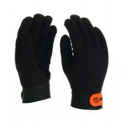 ROCK MKF mechanikai kesztyű szintetikus bőr tenyérrésszel, fekete