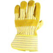 EP munkavédelmi bőrkesztyű, sárga marhahasíték/színbőr tenyérfolttal 10-es