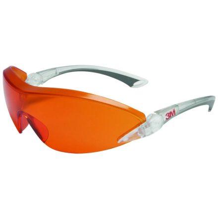 3M 2846 munkavédelmi védőszemüveg narancs színű lencsével